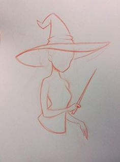 Hat witch drawing reference 54+ ideas #drawing #hat