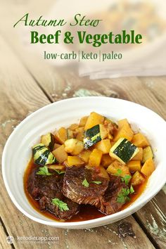 Autumn Beef & Vegetable Stew (low-carb, keto, paleo)