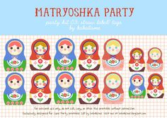 Matryoshka dolls -- free printable