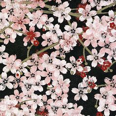 Black Packed Cherry Blossoms by Wilmington