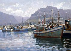 Roelof Rossouw Nautical Art, Artist Painting, Art Photography, Painting, Boat Art, South African Art, Marine Painting, Canvas Painting, South African Artists