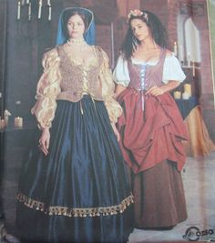 Simplicity Pattern 8715 Renaissance Medieval Dress Costume 10 12 14