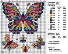 Butterfly cross stitch pattern free