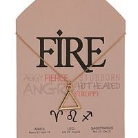 Fire Symbol Necklace