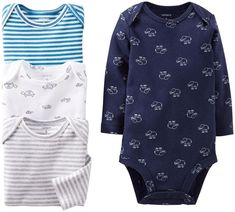94029c7ee Carters Baby Boys 4 Pack Bodysuits Baby Navy 3 Months * Review extra  reviews of the