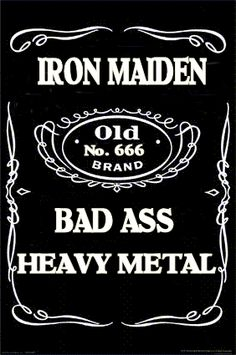 ☮ American Hippie Rock Music Poster ~ IRON MAIDEN~BAD ASS METAL MUSIC