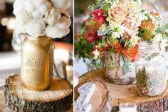 deco-mariage-champetre-rondelles-bois-bouquet-fleurs-champs-coton