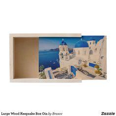 Shop Large Wood Keepsake Box Oia created by Brasov.