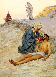 William Henry Margetson: El buen samaritano.