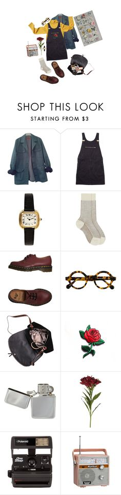 """Untitled #17"" by uncoolest ❤ liked on Polyvore featuring HUGO, Margaret Howell, Maria La Rosa, Dr. Martens, OKA, Polaroid, CO and Topshop"