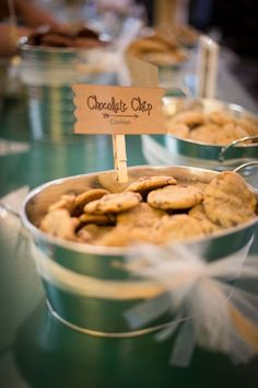 This is adorable.  Cookie bar for wedding...  Michelle & Travis's Wedding Photo By Ryan Davis Photography, LLC Cookie bar