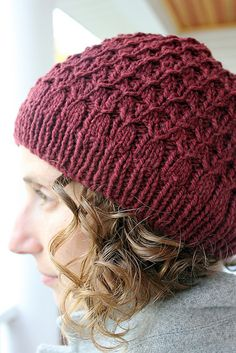 Pisco Punch knit hat pattern by Thea Colman - yarn: Pioneer by A Verb for Keeping Warm - great knit for a holiday gift!