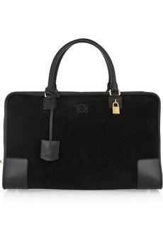 a1c111f2140e Loewe - Amazona leather and suede weekend bag