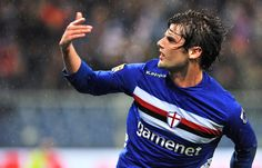 Andrea Poli celebrates his goal against Bologna FC. #SampBologna 1-0