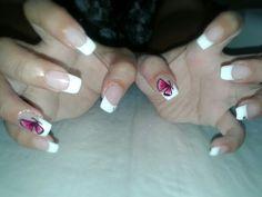 Farfalla fucsia nail