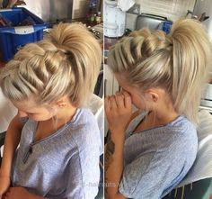 Braided Ponytail Ideas: 40 Cute Ponytails with Braids – The Right Hairstyles f. Braided Ponytail I Pretty Hairstyles, Easy Hairstyles, Wedding Hairstyles, Hairstyle Ideas, School Hairstyles, Amazing Hairstyles, Medium Hairstyles, Hairstyles 2016, Fashion Hairstyles