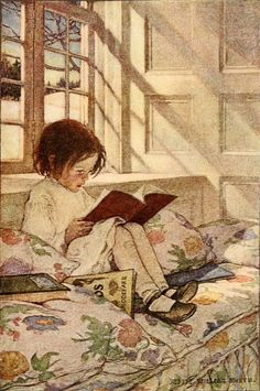 "Jessie Willcox Smith  'Picture-Books in Winter' (1905) from ""A Child's Garden of Verses"" 