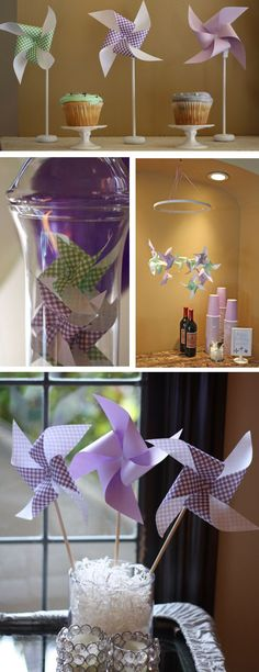 Oh Baby! Shower Decor...the blog: Real Party: Purple Pinwheels 1st Birthday!