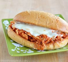 Pin for Later: What's Cooking in the Crockpot? 68 Hands-Off Family Meals Chicken Parmigiana Sandwiches This Italian crockpot recipe yields more than six chicken parmesan sandwiches, which is perfect for a large family or kids who love leftovers. Italian Crockpot Recipes, Slow Cooker Recipes, Chicken Recipes, Cooking Recipes, Crockpot Meals, Tofu Recipes, Chicken Parmesan Sandwich, Chicken Parmesean, Pulled Chicken