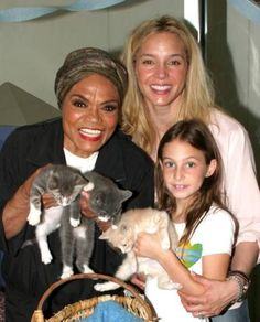 Eartha Kitt and daughter Kitt Shapiro, child maybe granddaughter Rachel