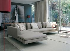 B+B Italia Charles Sofa INSPIRATIN FOR SCHEME C. IF YOU CAN FIND A SINGLE CUSHION SOFA, THAT IS THE BEST.