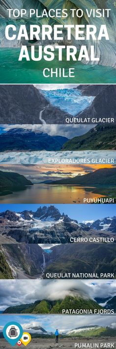 Top 10 places to visit along the Carretera Austral in Chile. A highlight of Patagonia, this road tak Europe Travel Tips, Places To Travel, Places To See, Travel Destinations, Europe Packing, Traveling Europe, Backpacking Europe, Packing Lists, Travel Hacks