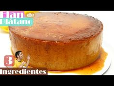 3 INGREDIENTES: FLAN de PLÁTANO o BANANA 🍮🍌 SIN HORNO, SIN GLUTEN, SIN AZÚCAR añadida🍮🍌 - YouTube Food Cakes, Bananas, Gluten, Cake Recipes, Biscuits, Oven, Pudding, Sugar, Desserts