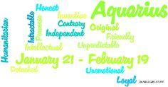 Likable Girl Stuff - aquarius, january, february, zodiac, astrology,