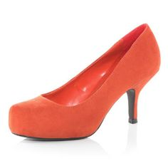 £32 Orange mid-heel court shoes. Need to find some of these.