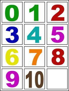Foto:                                                                                                                                                                                 Más Numbers Preschool, Math Numbers, Learning Numbers, Preschool Printables, Preschool Worksheets, Preschool Learning, Montessori Math, Kindergarten Literacy, Toddler Learning Activities
