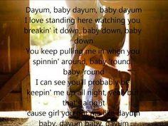 You got me like dayum, baby, dayum <3