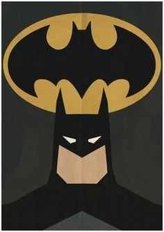 Batman Minimalist Retro Poster Movie Poster Art by CultPoster
