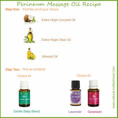 This perineal massage oil recipe uses essential oils. If you do not have any, you can use just plain oil. Perineal massage has great benefits for...