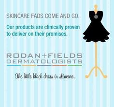 One of many game-changers from Rodan + Fields:  PC Perks!  You'll get 10% off RF products, FREE shipping on regularly scheduled orders, and enhanced customer service. This is no fad, this is a promise!  #clinicallyproven #littleblackdressinskincare #RFgamechanger