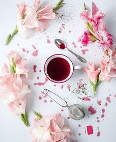 hibiscus,beauty-Oh mangosteen, how I love thee mangosteen-hibiscus coconut sugar tsp happiness tonicwarm water steep for an Coffee Art, Coffee Time, Tea Time, Flat Lay Photography, Food Photography, Coffee Photography, Photography Projects, Hibiscus Tea, Tea Brands