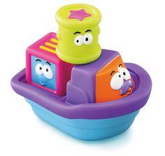 Baby Baby Stacking Blocks Tug Boat Bath Toy: Amazon.co.uk: Toys & Games