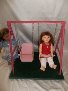 """Swing Set for American Girl Doll and All 18"""" Dolls on Etsy, Sold"""