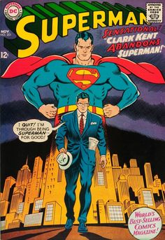Superman comic. Curt Swan and George Klein, 1967