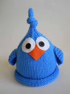Knit Baby Bird Hat, Newborn Infant Cap, Blue Or Any Custom Color  Avail, All Sizes NB- Adult, Great Photo Prop. $22.99, via Etsy.