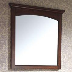 36 Vermont Vanity Mirror Mahogany Bathroom Mirrors