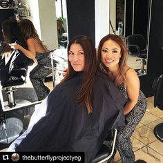 #Repost @thebutterflyprojectyeg  we'll always remember this day too 💘💘 thank you for sharing your day with us  ・・・  Amazing things happening today @nvennhairbeautybar with @jesyslee and @veronicaleexoxo  These talented stylists are hooking up 2 beautiful women with new hair cuts and colours just in time for spring!! They are donating their time and products to help with The Butterfly Project, and to help these lovely ladies to look and feel their best. 🦋 We filmed a video as well to give…