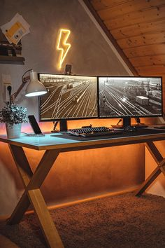 Homall Gaming Desk Computer Desk inch Home Office Gaming Table Y Shaped PC Desk Workstation with Carbon Fiber Surface Cup Holder & Headphone Hook Computer Desk Setup, Gaming Room Setup, Pc Desk, Computer Desks For Home, Pc Setup, Home Office Setup, Home Office Design, House Design, Bureau Design
