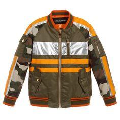 38af49ab6e00 Dolce   Gabbana - Green   Orange Bomber Jacket