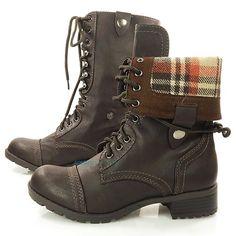 brown combat boots..ebay