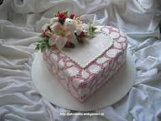 Lace Heart Cake
