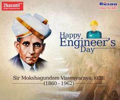 Tribute to Bharat Ratna Shri M Visvesvaraya on his birth anniversary. Happy #EngineersDay  from #2baconil