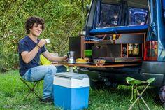Maleteros extraíbles (bandeja, bastidor, cajón...). Mogollón de fotos. - Página 825 Camping Box, Minivan Camping, T5 Kombi, Campervan, Car Camper, Mini Camper, T5 California, Berlingo Camper, Van Dwelling