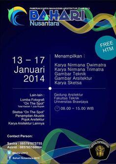 """pecinta seni boleh hadir di acara ini """"BAHARI Nusantara"""""""