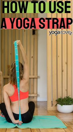 All beginners should learn how to use a yoga strap. This article helped me out. This is why I love looking up yoga tutorials on Pinterest! Yay! How To Start Yoga, Learn Yoga, Coping With Stress, Stress And Anxiety, Help Losing Weight, Easy Weight Loss, Yoga Routine For Beginners, Yoga Movement, Stretches