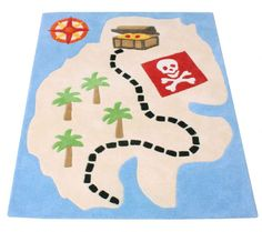 Browse our range of Pirate Bedding accessories including this Pirate Rug suitable for any budding pirate along with many other co-ordinating Pirate bedroom accessories and wall stickers from Funky Monkey Bedrooms
